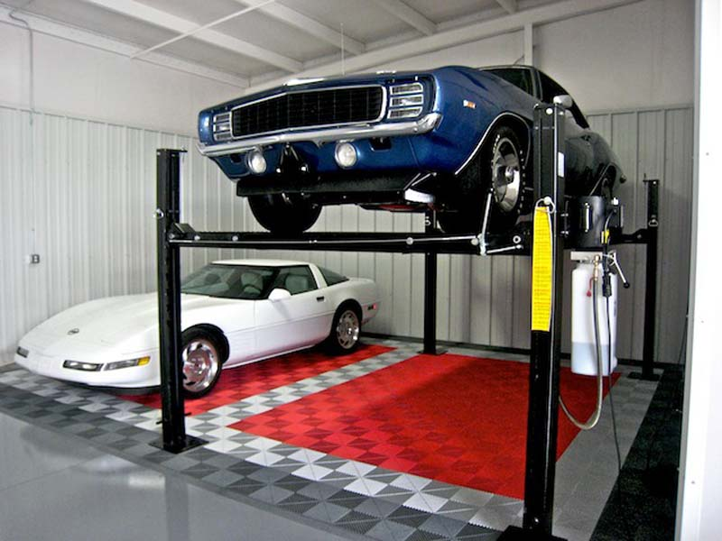 Classic Camaro on Lift – Baldhead Garage: Ribtrax (Pearl Grey, Pearl Silver, Racing Red)